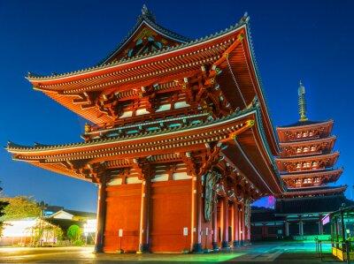 Posters Senso-ji, Temple à Asakusa, Tokyo, Japon.