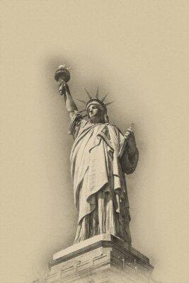 Posters Sépia, tonique, artistique, image, statue, liberté