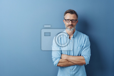 Posters Serious authoritative man with folded arms