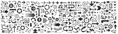 Posters Set of vector arrows