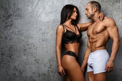 Posters Sexy couple en sous-vêtements