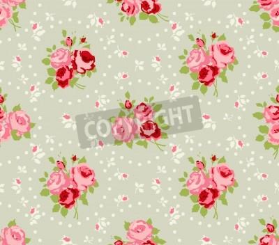 Posters Shabby Chic Rose Patterns et d'horizons sans soudure