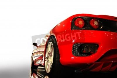 Posters  shot  of a  red sports car (ferrari)