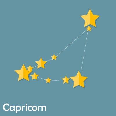 Posters Signe de zodiaque de Capricorne de la Belle étoiles brillantes Vector Illus