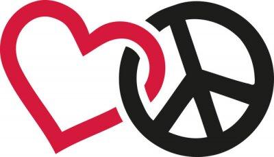 Posters Signes d'amour et de paix entrelacés