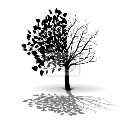 Posters Silhouette, arbre