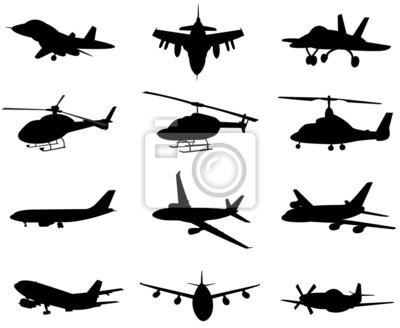 silhouette d'un avion mis