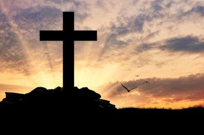 Posters Silhouette d'une croix