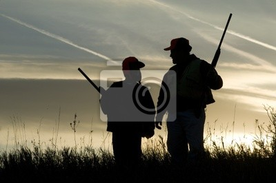 Posters Silhouette de chasse