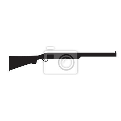 Posters Silhouette de Shotgun, fusil de chasse