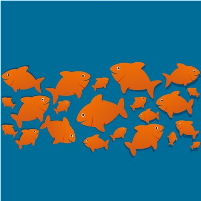 Posters Silhouettes poissons