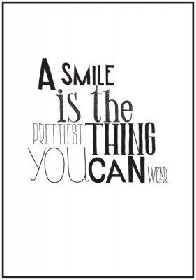 Posters Simple affiche en noir et blanc avec une expression de motivation