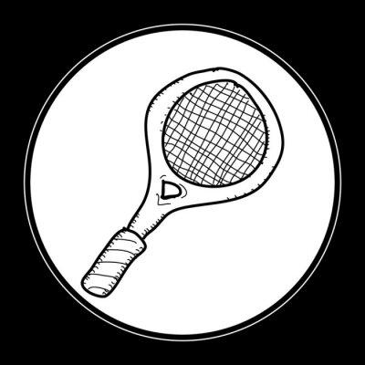 Posters Simple, doodle, tennis, raquette