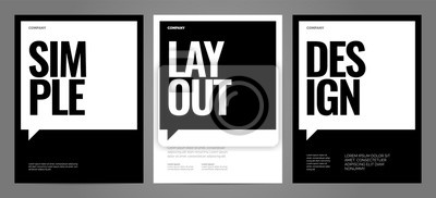 Posters Simple template design with typography for poster, flyer or cover.