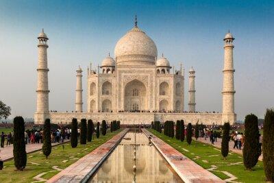 Posters Site du patrimoine mondial de l'UNESCO Taj Mahal, Agra, Rajasthan, Inde