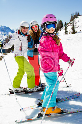 Ski, hiver, sports-skieurs sur la montagne