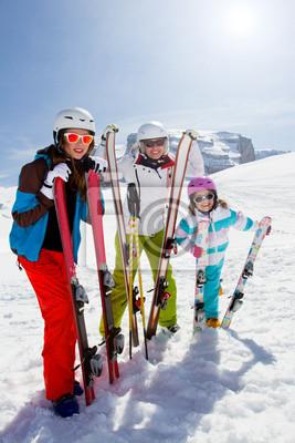 Ski, sports d'hiver - Les skieurs de montagne