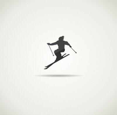 Posters skieur