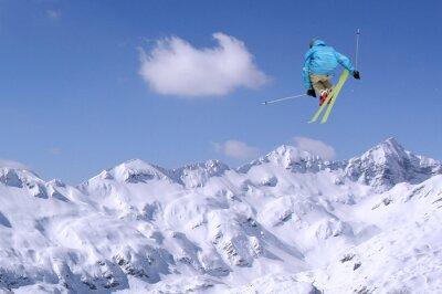 Posters Skieur sautant