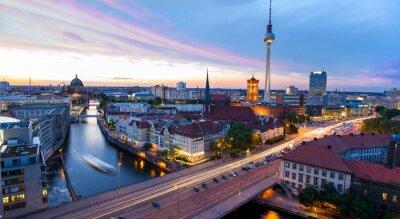 Posters Skyline Berlin, Blick auf den Alexanderplatz
