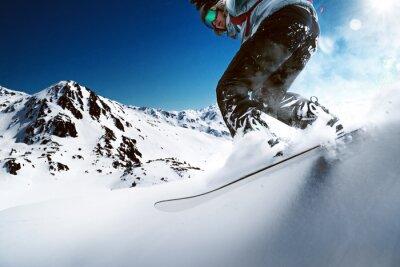 Posters Snowboarder, aller, descendre