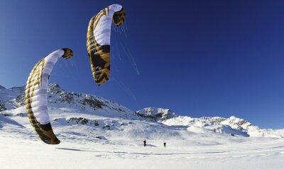 Posters Snowkiten im winter