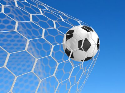 Posters Soccer ball dans le filet