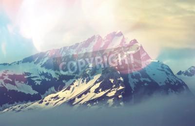 Posters sommet de la montagne