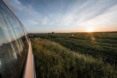 Posters Sonnenuntergang an einem Feld auf Fehmarn
