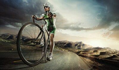 Posters Sport. cycliste sur route