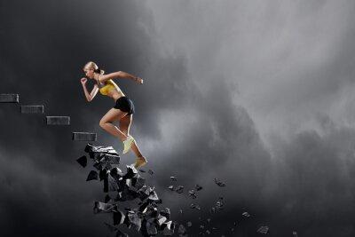 Posters Sport, femme, surmonter, défis