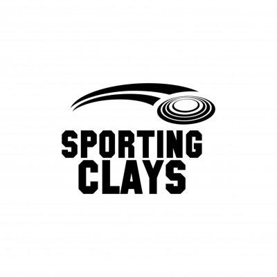 Posters sporting clays symbol vector logo design