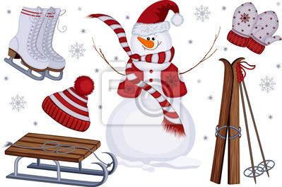 sportives et de loisirs icônes d'hiver