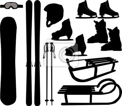 sports d'hiver - icônes vectorielles