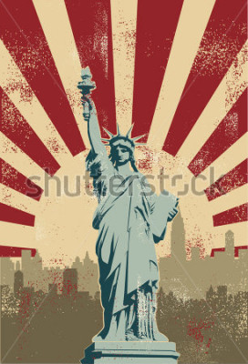 Posters Statue of Liberty, New York City, vector