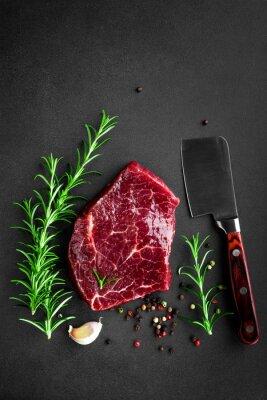 Posters Steak de boeuf cru