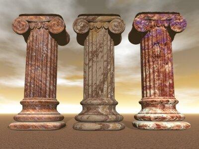 Posters Stone columns - 3D render