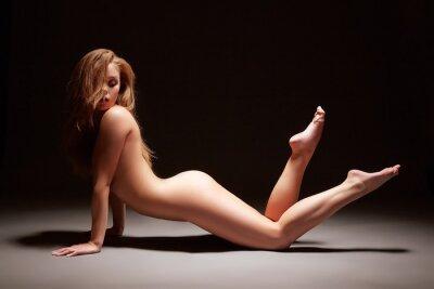 Posters Studio de photo de fille harmonous pose nue