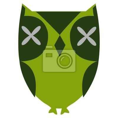 stylisé Hibou vert