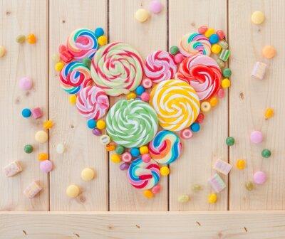 Posters sucettes et bonbons colorés