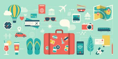Posters Summer vacations and international traveling