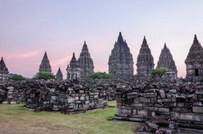 Posters Sunset, Prambanan Temple (Candi Rara Jonggrang), Java, Indonesia
