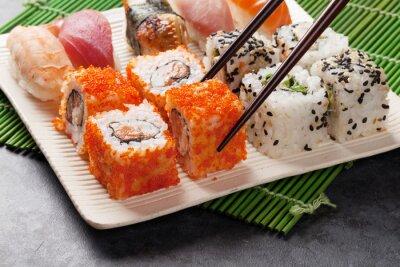 Posters Sushi et maki ensemble