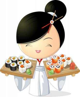 Posters sushi fille
