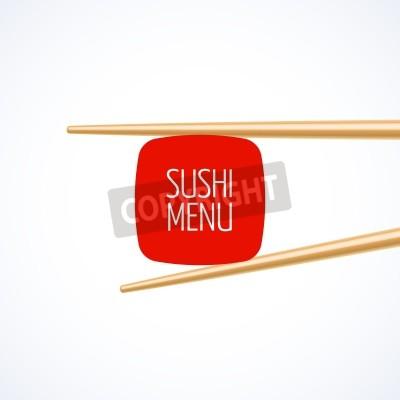 Posters Sushi modèle de couverture de menu