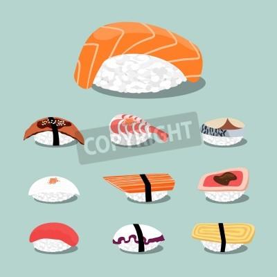 Posters Sushi set icon