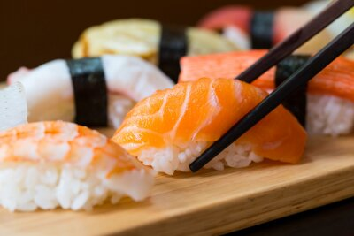 Posters Sushi set, la nourriture japonaise