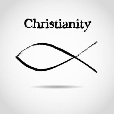 Posters Symbole de poisson chrétien. logo