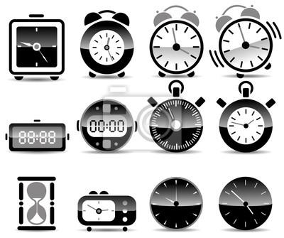 symboles de l'horloge du temps