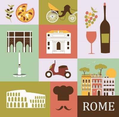Posters Symboles de Rome. Vecteur